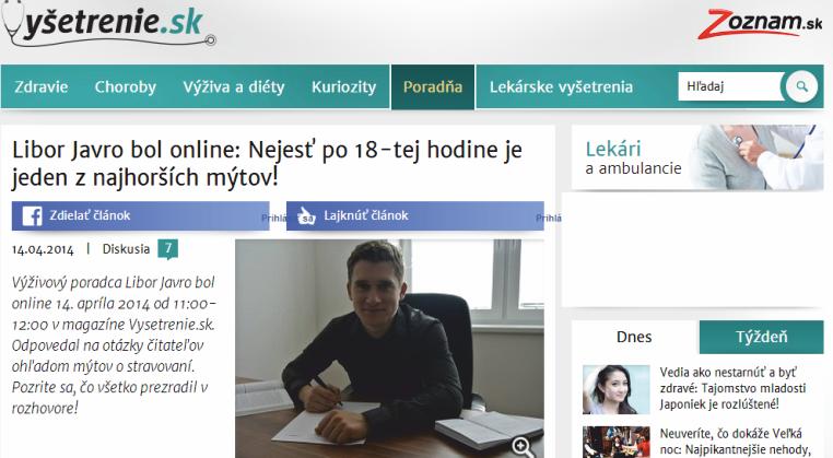 online rozhovor na vysetrenie.sk