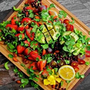 avokádovo-ovocný šalát