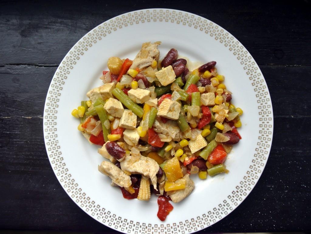 Zeleninový mix s tofu