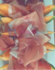 letný šalát s prosciuttom a melonom